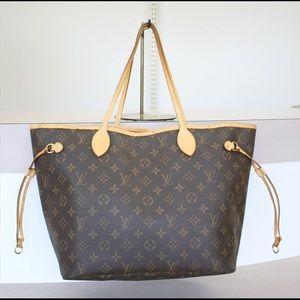 LOUIS VUITTON NEVERFULL MM Monogram Bag No.1050